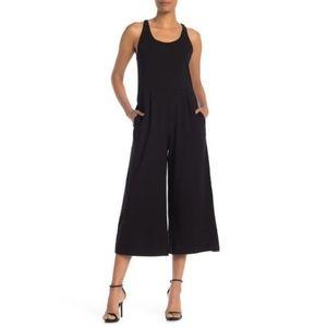 Eileen Fisher Black Cotton Cami Wide Leg Jumpsuit
